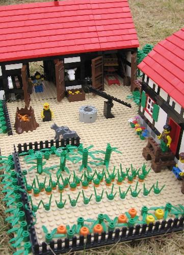Lego Farm House And Lego Barn