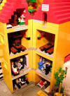 Interior of Lego building